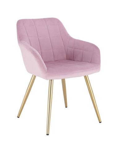 Cadeira Veludo e Dourado   Mobiliário Cabeleireiro