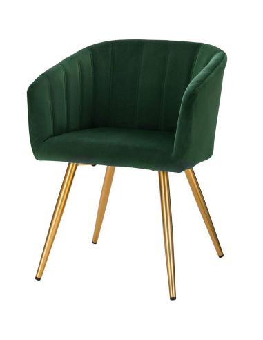 Cadeira Veludo Golden   Mobiliário Cabeleireiro