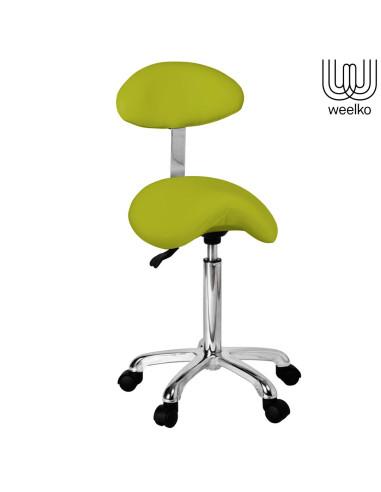 Cadeira de Manicure Organic Weelko verde LIM | Cadeira Manicure