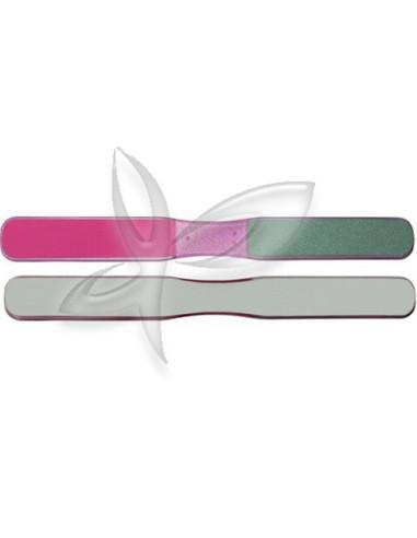 Lima 3 faces com pega central rosa