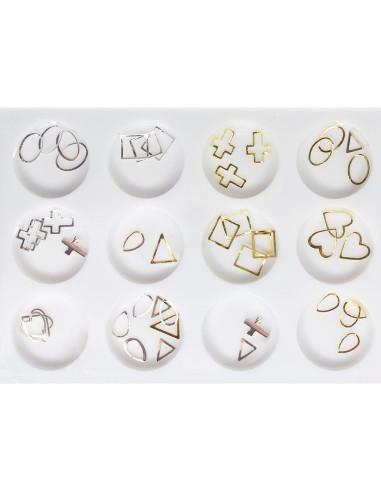 Pack Decalcantes Dourados Finos  Art Nail | Bijutaria  Nail Art
