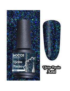 Azul 15ml - Coleção Efeito Pavão INOCOS | Verniz Gel Inocos
