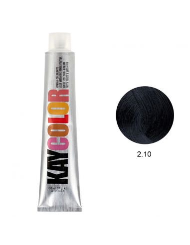 Coloração 2.10 Preto Azulado 100ml - Kaycolor   KayColor