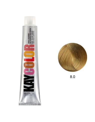 Coloração 8.0 Louro Claro Intenso 100ml - Kaycolor | Kay Color