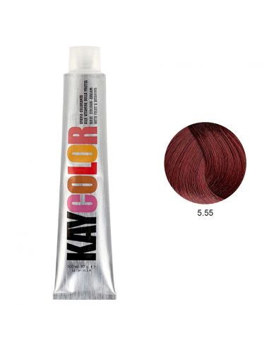 Kaycolor - Coloração 5.55 Castanho Claro Acajú Intenso 100ml | KayColor