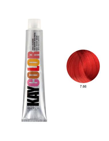 Coloração 7.66 Louro Vermelho Intenso 100ml - Kaycolor | Coloração Kay Color