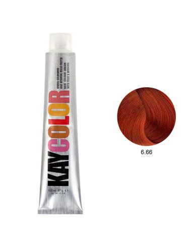 Kaycolor - Coloração 6.66 Castanho Escuro Vermelho Intenso 100ml | KayColor