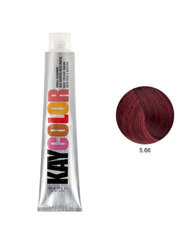 Coloração 5.66 Castanho Claro Vermelho Powered 100ml - Kaycolor | Kay Color