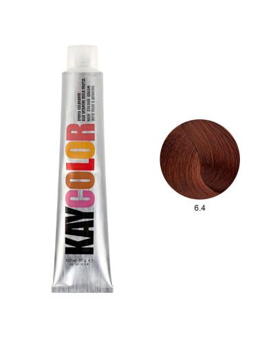 Kaycolor - Coloração 6.4 Castanho Escuro Acobreado 100ml | KayColor