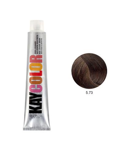 Coloração 5.73 Marron Glacee 100ml - Kaycolor | KayColor