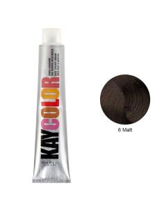 Coloração 6 Louro Mate Escuro 100ml - Kaycolor   KayColor