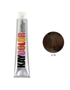 Coloração 4.18 Castanho Chocolate Intenso 100ml - Kaycolor | KayColor
