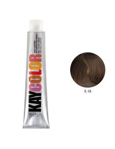 Coloração 5.18 Castanho Claro Chocolate Intenso 100ml - Kaycolor | Coloração Kay Color