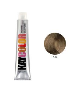 Coloração 7.18 Louro Chocolate Intenso 100ml - Kaycolor | KayColor