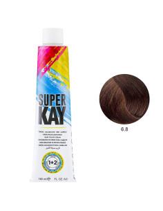 Coloração 6.8 Loiro Escuro Chocolate 180ml - SuperKay   Super Kay