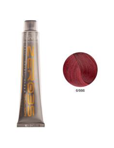 Coloração Sem Amoníaco 100ml - 6/666 Loiro Escuro Vermelho Extremo - Zero35 - Emmebi   Zero35 Sem Amoníaco