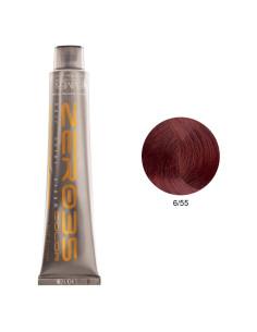 Coloração Sem Amoníaco 100ml - 6/55 Loiro Escuro Mogno Intenso - Zero35 - Emmebi   Zero35 Sem Amoníaco