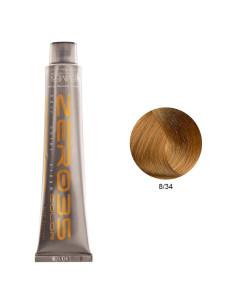 Coloração Sem Amoníaco 100ml - 8/34 Loiro Dourado Cobre Claro - Zero35 - Emmebi | Coloração sem Amoníaco