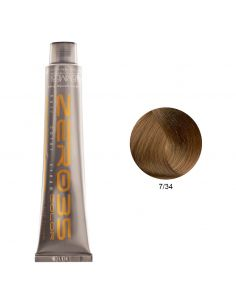 Coloração Sem Amoníaco 100ml - 7/34 Loiro Cobre Dourado - Zero35 - Emmebi | Coloração sem Amoníaco