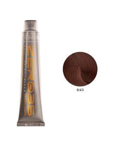 Coloração Sem Amoníaco 100ml - 6/43 Loiro Cobre Dourado Escuro - Zero35 - Emmebi   Zero35 Sem Amoníaco