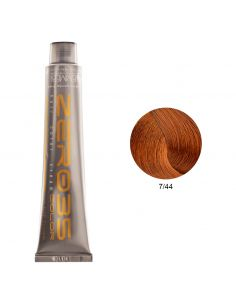 Coloração Sem Amoníaco 100ml - 7/44 Loiro Acobreado Intenso - Zero35 - Emmebi   Zero35 Sem Amoníaco