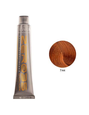 Coloração Sem Amoníaco 100ml - 7/44 Loiro Acobreado Intenso - Zero35 - Emmebi