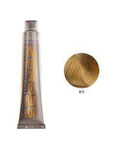 Coloração Sem Amoníaco 100ml - 8/3 Loiro Claro Dourado - Zero35 - Emmebi | Zero35 Sem Amoníaco