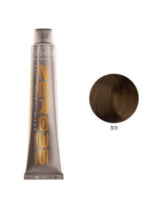 Coloração Sem Amoníaco 100ml - 5/3 Castanho Dourado Claro - Zero35 - Emmebi | Zero35 Sem Amoníaco