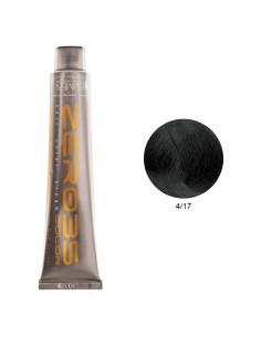 Coloração Sem Amoníaco 100ml - 4/17 Castanho Médio Verde Gelo - Zero35 - Emmebi | Zero35 Sem Amoníaco