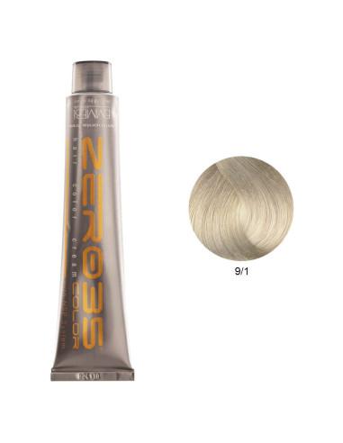 Coloração Sem Amoníaco 100ml - 9/1 Loiro Cinza Claríssimo - Zero35 - Emmebi | Coloração sem Amoníaco