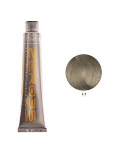 Coloração Sem Amoníaco 100ml - 7/1 Loiro Cinza Médio - Zero35 - Emmebi | Zero35 Sem Amoníaco