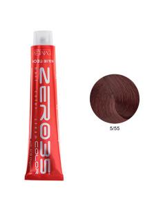 Coloração Hair-Tech 100ml - 5/55 Castanho Claro Violino Intenso - Zero35 - Emmebi   Zero35 Com Amoníaco