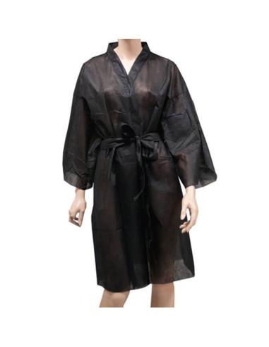 Kimono Descartável Preto - 1 uni. Descartáveis