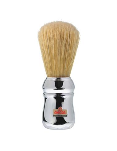 Pincel de Barbear Cromado Omega  