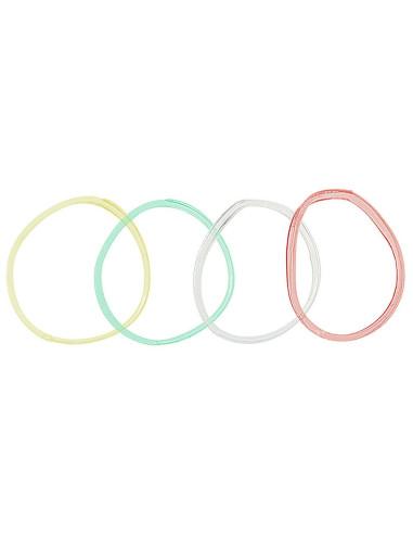 Elásticos para Cabelo Rubber Band Grandes - Coloridos - 30 unidades |
