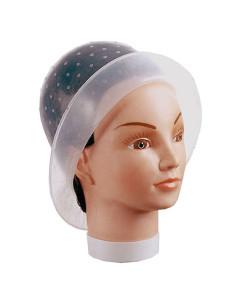 Touca para Madeixas em Silicone com protecção de rosto |